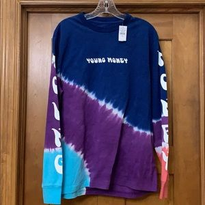 Young Money x American Eagle Long Sleeve Tie Dye L